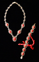 0423270 © Granger - Historical Picture ArchiveDECORATIVE ARTS.   Handcrafted Mediterranean red coral jewelry and filigree, Alghero, Sardinia, Italy Full credit: De Agostini / Diego M.Rossi / Granger, NYC -- All Rights Reserved.