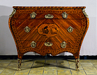 0423408 © Granger - Historical Picture ArchiveDECORATIVE ARTS.   Inlaid drawers by Giuseppe Maggiolini (1738-1814), possibly from design by Giuseppe Arise, Italy, 18th century Full credit: De Agostini / A. Dagli Orti / Granger, NYC -- All Rights Reserved.