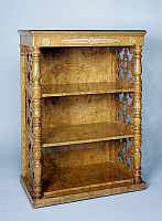 0423530 © Granger - Historical Picture ArchiveDECORATIVE ARTS.   Etagere in ash burl with side columns and fretwork lateral panels, ca 1839, possibly by Georges-Alphonse-Jacob-Desmalter (1799-1870), France, 19th century Full credit: De Agostini Picture Library / Granger, NYC -- All Rights Reserved.
