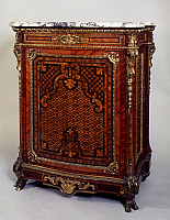 0423536 © Granger - Historical Picture ArchiveDECORATIVE ARTS.   Meuble d'appui (side cabinet) with geometric marquetry and bronze applications, by Guillaume Grohe, ca 1845, France, 19th century Full credit: De Agostini Picture Library / Granger, NYC -- All Rights Reserved.