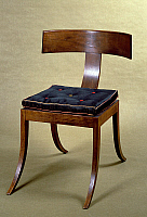 0423609 © Granger - Historical Picture ArchiveDECORATIVE ARTS.   Empire style chair inspired by the Greek klismos, ca 1835, by Hermann Ernst Freund (1786-1840), Denmark, 19th century Full credit: De Agostini Picture Library / Granger, NYC -- All Rights Reserved.