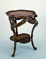 0423678 © Granger - Historical Picture ArchiveDECORATIVE ARTS.   Art Nouveau style gueridon table with dragonfly shaped legs, ca 1900, by Emile Galle (1846-1904), France, 20th century Full credit: De Agostini / A. C. Cooper / Granger, NYC -- All Rights Reserved.
