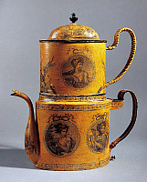 0425968 © Granger - Historical Picture ArchiveDECORATIVE ARTS.   Directoire style coffee pot, painted tin, France, 19th century Full credit: De Agostini / G. Dagli Orti / Granger, NYC -- All Rights Reserved.