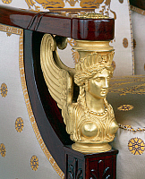 0426611 © Granger - Historical Picture ArchiveDECORATIVE ARTS.   Winged sphinx, detail of Empire style solid mahogany bergere with chiselled and gilt bronze decorations, stamped Jacob Freres, France, mid 19th century Full credit: De Agostini / J. M. Zuber / Granger, NYC -- All Rights Reserved.