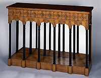 0427232 © Granger - Historical Picture ArchiveDECORATIVE ARTS.   Restauration style console sideboard, wood painted to imitate wood, ca 1830, model of  original signed by Jacobs Freres, France, first half 19th century Full credit: De Agostini / J. M. Zuber / Granger, NYC -- All Rights Reserved.