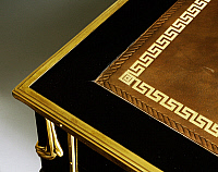 0427436 © Granger - Historical Picture ArchiveDECORATIVE ARTS.   Louis XVI style lacquered wood writing desk with gilt bronze applications, ca 1780. France, 18th century, Detail of top Full credit: De Agostini / A. Dagli Orti / Granger, NYC -- All Rights Reserved.