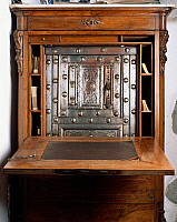 0428301 © Granger - Historical Picture ArchiveDECORATIVE ARTS.   Nineteenth-century sideboard with 18th century safe, Sanluri Castle, Sardinia, Italy Full credit: De Agostini / L. Romano / Granger, NYC -- All Rights Reserved.