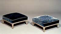 0428533 © Granger - Historical Picture ArchiveDECORATIVE ARTS.   Pair of Louis XV style lacquered wood footstools, France, 18th century Full credit: De Agostini / Ph. Sebert / Granger, NYC -- All Rights Reserved.