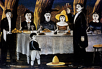 0430043 © Granger - Historical Picture ArchiveFINE ART.   Family feast, by Niko Pirosmanashvili (1862-1918). Full credit: De Agostini Picture Library / Granger, NYC -- All Rights Reserved.