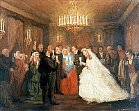 0430383 © Granger - Historical Picture ArchiveFINE ART.   Wedding, painting by Leonid Solomatkin (1837-1883). Full credit: De Agostini Picture Library / Granger, NYC -- All Rights Reserved.