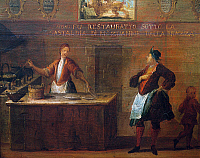 0430634 © Granger - Historical Picture ArchiveFINE ART.   Panel on the art of the frittoleri from the year 1784, Italy, 18th century. Full credit: De Agostini / A. Dagli Orti / Granger, NYC -- All Rights Reserved.