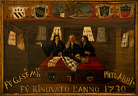 0430642 © Granger - Historical Picture ArchiveFINE ART.   Signboard of the Guild of furriers in Venice, 1730. Italy, 18th century. Full credit: De Agostini / A. Dagli Orti / Granger, NYC -- All Rights Reserved.