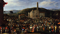0430823 © Granger - Historical Picture ArchiveFINE ART.   Impruneta fair, painting by Filippo Napoletano (ca 1587-ca 1629). Full credit: De Agostini / G. Nimatallah / Granger, NYC -- All Rights Reserved.