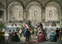 0431140 © Granger - Historical Picture ArchiveFINE ART.   Paris, party at Hotel de Ville, 1840-1850, engraving by Eugene Louis Lami (1800-1890). Full credit: De Agostini / G. Dagli Orti / Granger, NYC -- All Rights Reserved.