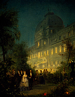 0431422 © Granger - Historical Picture ArchiveFINE ART.   Evening Party at the Tuileries during the Second Empire, June 10, 1867, painting by Pierre Henri Theodore Van Elven (1831-1908). Full credit: De Agostini / G. Dagli Orti / Granger, NYC -- All Rights Reserved.