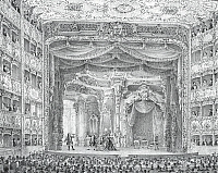 0431648 © Granger - Historical Picture ArchiveFINE ART.   Performance of a lyric opera at Teatro La Fenice (The Phoenix Theatre) in Venice, engraving. Italy, 18th century. Detail. Full credit: De Agostini / A. Dagli Orti / Granger, NYC -- All Rights Reserved.
