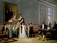 0431760 © Granger - Historical Picture ArchiveFINE ART.   The Viscount of Santarem and his family, painting by Domingos Antonio de Sequeira (1768-1837). Full credit: De Agostini / G. Dagli Orti / Granger, NYC -- All Rights Reserved.