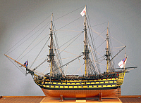 0431964 © Granger - Historical Picture ArchiveFINE ART.   The flagship Victory commanded by Horatio Nelson. England, 19th century. Full credit: De Agostini / A. Dagli Orti / Granger, NYC -- All Rights Reserved.