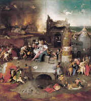 0527292 © Granger - Historical Picture ArchiveBOSCH: TEMPTATION, c1500.   'The Temptation of Saint Anthony.' Center panel of a triptych by Hieronymous Bosch, c1500.
