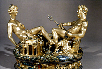 0020859 © Granger - Historical Picture ArchiveCELLINI: SALT CELLAR, 1543.   Gold and enamelled salt-cellar for King Francis I of France, by Benvenuto Cellini, 1543.