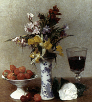 0021950 © Granger - Historical Picture ArchiveFANTIN-LATOUR: STILL LIFE.   Fantin-Latour: Still life (The Betrothal). Oil on canvas, 1869.