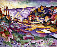 0023393 © Granger - Historical Picture ArchiveBRAQUE: L'ESTAQUE, 1906.   Oil on canvas by Georges Braque.