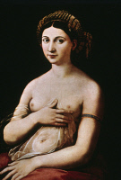 0023674 © Granger - Historical Picture ArchiveRAPHAEL: LA FORNARINA.   Oil on canvas by Raphael (1483-1520).