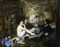 0024990 © Granger - Historical Picture ArchiveMANET: LUNCHEON, 1863.   Luncheon on the Grass. Oil on canvas by Edouard Manet.