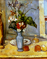 0025007 © Granger - Historical Picture ArchiveCEZANNE: BLUE VASE, 1885-87.   Paul Cezanne: The Blue Vase. Oil on canvas, 1885-87.