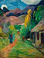 0025272 © Granger - Historical Picture ArchiveGAUGUIN: TAHITI, 19th C.   Paul Gauguin: Street in Tahiti. Canvas.
