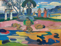 0025277 © Granger - Historical Picture ArchiveGAUGUIN: DAY OF GOD, 1894.   Paul Gauguin: The Day of the God. Canvas, 1894.