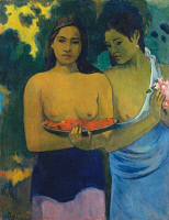 0025278 © Granger - Historical Picture ArchiveGAUGUIN: TWO WOMEN, 1899.   'Two Tahitian Women.' Oil on canvas by Paul Gauguin, 1899.