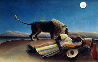 0026091 © Granger - Historical Picture ArchiveROUSSEAU: GYPSY, 1897.   'The Sleeping Gypsy.' Oil on canvas by Henri Rousseau, 1897.