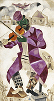 0026247 © Granger - Historical Picture ArchiveCHAGALL: VIOLINIST, 1923.   Marc Chagall: The Green Violinist. Oil on canvas, 1923-24. EDITORIAL USE ONLY.