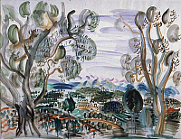 0026610 © Granger - Historical Picture ArchiveRAOUL DUFY: OLIVE TREES   by the Golfe Juan. Watercolor, c. 1927. RESTRICTED OUTSIDE US. EDITORIAL USE ONLY.