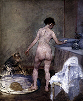0026635 © Granger - Historical Picture ArchiveFORAIN: TUB, 1886-87.   Jean Louis Forain: The Tub. Canvas, c1886-87. RESTRICTED OUTSIDE US.