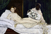 0029544 © Granger - Historical Picture ArchiveMANET: OLYMPIA, 1865.   Oil on canvas, 1865, by Edouard Manet.