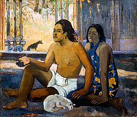 0033733 © Granger - Historical Picture ArchiveGAUGUIN: TAHITI WOMEN.   Tahitian Women in a Hut. Oil on canvas by Paul Gauguin, 19th century.