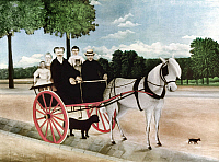 0033772 © Granger - Historical Picture ArchiveROUSSEAU: CART, 1908.   Father Juniet's Cart. Oil on canvas by Henri Rousseau, 1908.