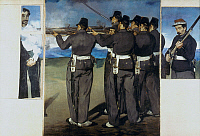 0034448 © Granger - Historical Picture ArchiveMANET: EXECUTION, 1867.   Execution of Archduke Maximilian. Fragments, oil on canvas, by Edouard Manet. RESTRICTED OUTSIDE US.