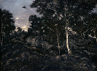 0040279 © Granger - Historical Picture ArchiveBARYE: FONTAINEBLEAU.   Antoine-Louis Barye (1796-1875): The Forest of Fontainebleau. Oil on canvas.