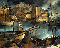 0041316 © Granger - Historical Picture ArchiveVLAMINCK: MARSEILLES, 1913.   The Old Port at Marseilles. Canvas by Maurice de Vlaminck.