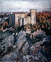 0053096 © Granger - Historical Picture ArchiveFRIESZ: CASTLE, 1904.   Othon Friesz: The Castle and Town of Falaise. Oil on canvas, 1904. RESTRICTED OUTSIDE US.