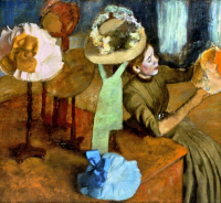 0053622 © Granger - Historical Picture ArchiveDEGAS: MILLINER, 1879-84.   Edgar Degas: Millinery Shop. Oil on canvas, 1879-84.
