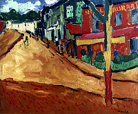 0055033 © Granger - Historical Picture ArchiveVLAMINCK: STREET, 1906.   A Street at Marly-le-Roy. Oil on canvas by Maurice de Vlaminck.