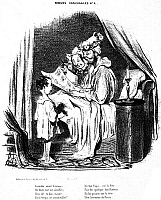 0084662 © Granger - Historical Picture ArchiveDAUMIER: MARRIED LIFE, 1839.   'This morning before dawn God came to wake me up, and he said to me: