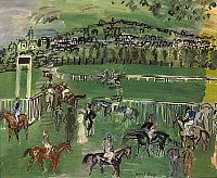 0103893 © Granger - Historical Picture ArchiveDUFY: RACE TRACK, 1928.   'The Race Track.' Oil on canvas, 1928, by Raoul Dufy. EDITORIAL USE ONLY.