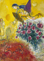 0103922 © Granger - Historical Picture ArchiveCHAGALL: FLIGHT, c1970.   'The Flight.' Oil on canvas, 1968-71, by Marc Chagall. EDITORIAL USE ONLY.