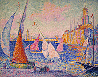 0104051 © Granger - Historical Picture ArchiveSIGNAC: ST. TROPEZ HARBOR.   Oil on canvas, 1899, by Paul Signac.
