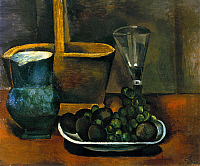0104959 © Granger - Historical Picture ArchiveDERAIN: STILL LIFE, 1911.   Still life with basket, jug, and fruit. Oil on canvas by André Derain, 1911.